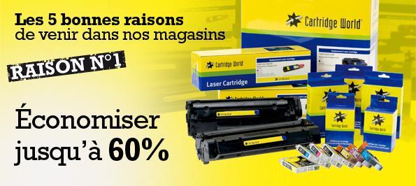 Cartridge World Libourne recharge votre cartouche d'imprimante
