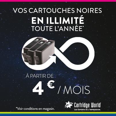Forfaits Illimités noir - Cartridge World Libourne
